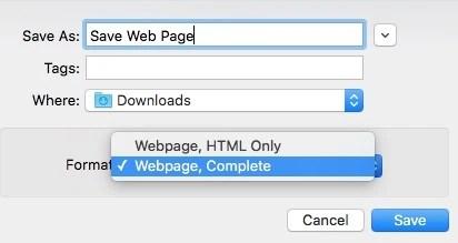Save Web Page