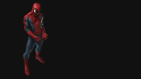 Spider man 3D Black Wallpaper
