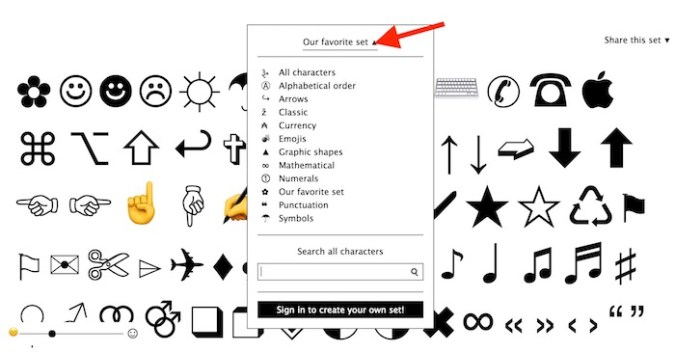 select-type-of-symbols