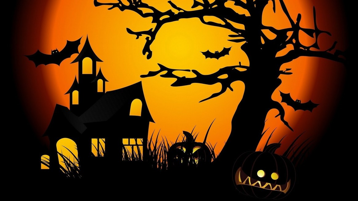 red-color-bat-halloween-wallpaper