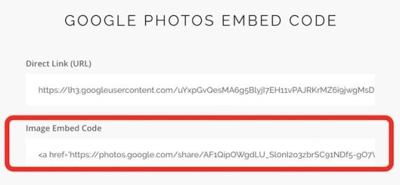 google-photos-embed-code