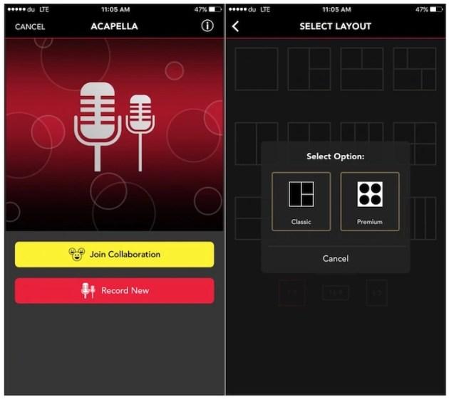 Create A Cappella Music Videos with Acapella App