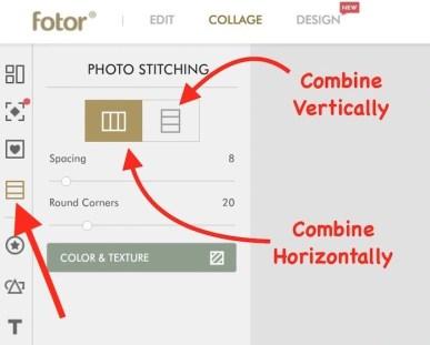 Combine Images on Fotor online