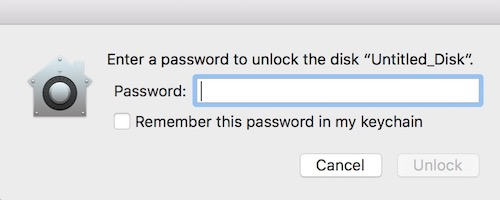 Enter Password for the hard drive