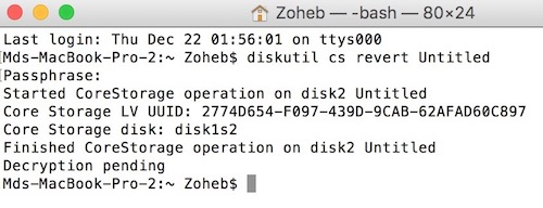 How to Decrypt USB or External Storage On Mac OS