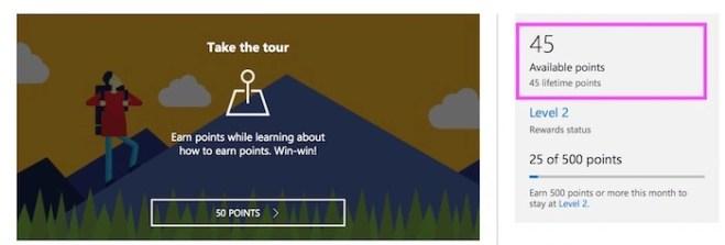 Bing Rewards Dashboard