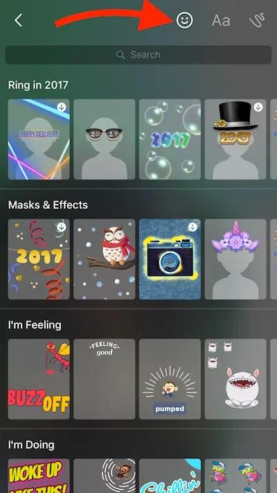 Fun effects on Messenger