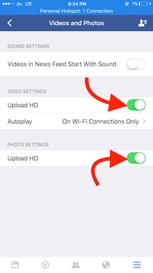 Upload HD Videos and Photos Step 4