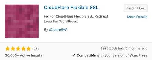 Cloudflare flexible ssl plugin