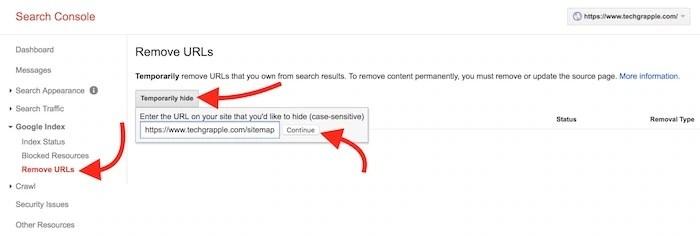 remove page url
