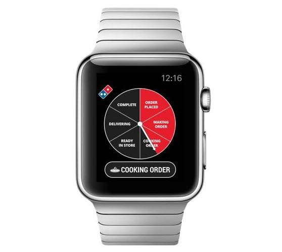 The Domino's Tracker is already available for Apple Watch