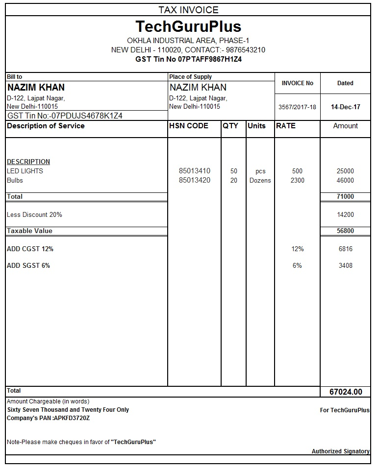 GST Tax Invoice Format in excel, GST Tax Invoice Format .exe