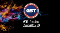 GST Invoice Format in Excel, Word, PDF and JPEG (Format No. 20)