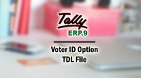 Voter ID Option Add-on TDL File for Tally ERP 9