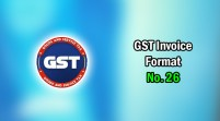 GST Invoice Format in Excel, Word (Format No. 26) .xls, .doc file