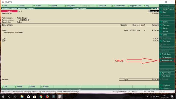 Envelope address print TDL