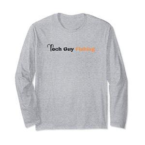 Tech Guy Fishing T-Shirt Long-Sleeve Heather Grey