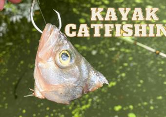 KAYAK CATFISHING LAKE WOODLANDS
