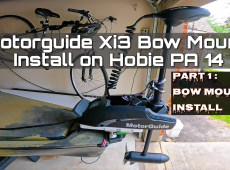 Hobie PA 14 Motorguide Xi3 Install Part 1 - Bow Mount Plate Install
