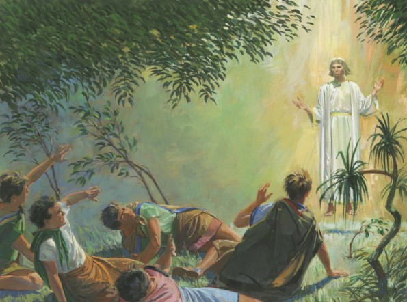 Angel Appears to Alma and the Sons of Mosiah, by Jerry Thompson; Image Credit LDS.org