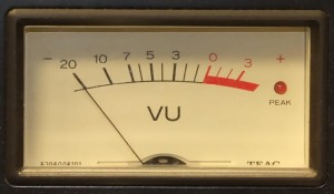 Some desks have VU meters rather than LEDs to display levels