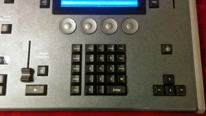The FLX keypad for command line operation.