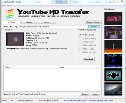 YouTube HD Transfer1