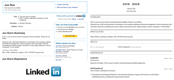 Convert Your LinkedIn Profile to a Resume Online Easily