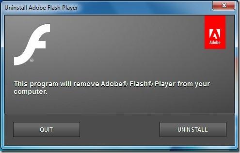 flash uninstaller utility