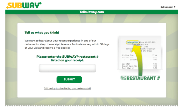 tellsubway-survey-free-cookie