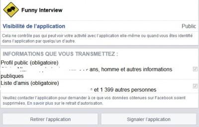 Supprimer Apps Facebook