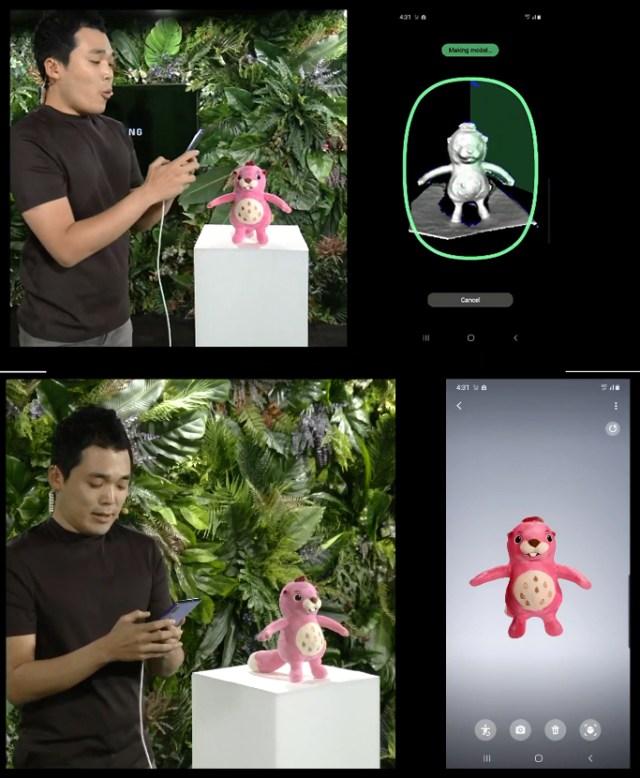 Фотографии с Galaxy Unpacked об AR возможностях Galaxy Note 10+