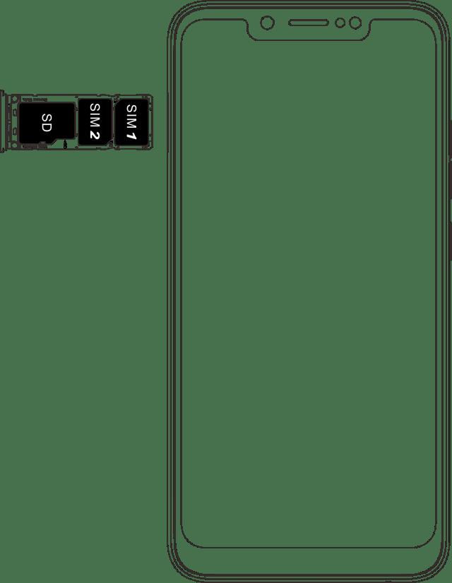 Tecno camon 11 dimension SIM and SD card slot