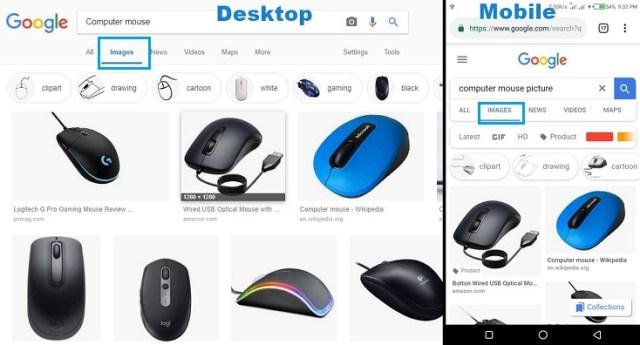 Google Image search Tab