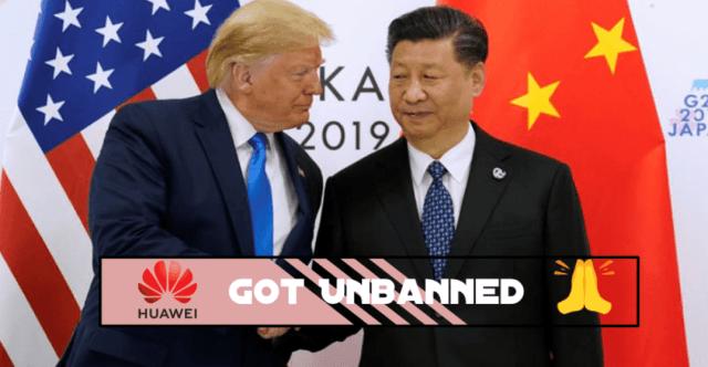 Huawei Ban Over