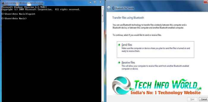 Inbuilt Bluetooth Option In Windows OS