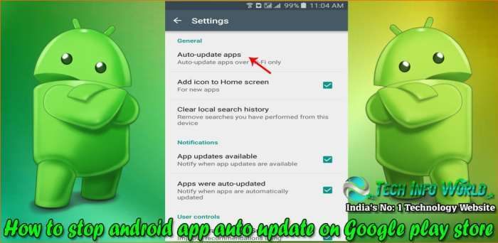 android app auto update on Google play store 2