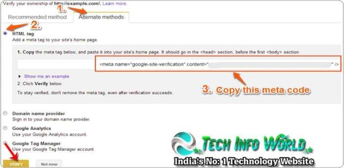 google webmaster tools verify ownership