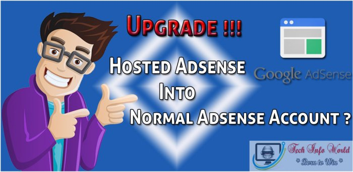 Upgrade Hosted adsense account