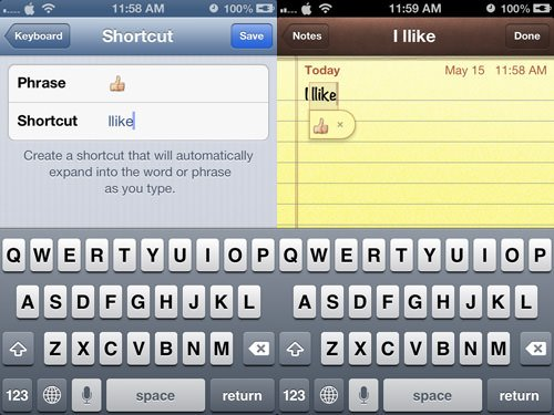 iphone tricks emoji shortcut