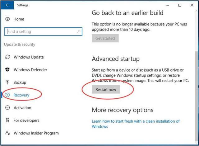 Rename the WindowsApps folder in WinRE