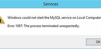 Error 1067 The Process Terminated Unexpectedly
