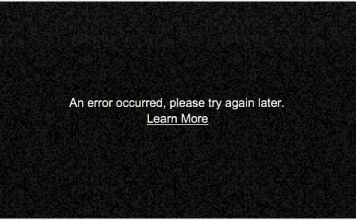 youtube an error occurred