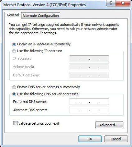 Change the DNS Servers