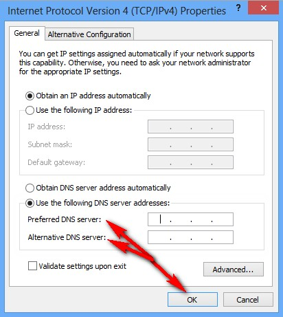 Change your DNS Server (DNS Server Problems)