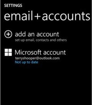 Sync your Microsoft Account (Code 80072f8f)