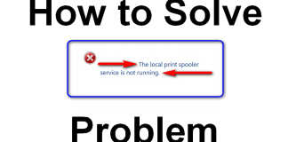 The local Print Spooler Service is not Running