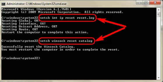 Resetting the Catalog and IP Error 4