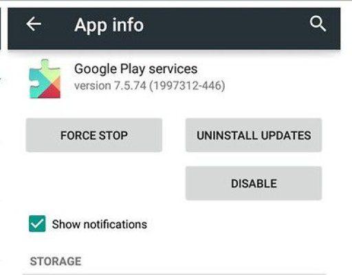 Update or Uninstall Google Play Store Updates