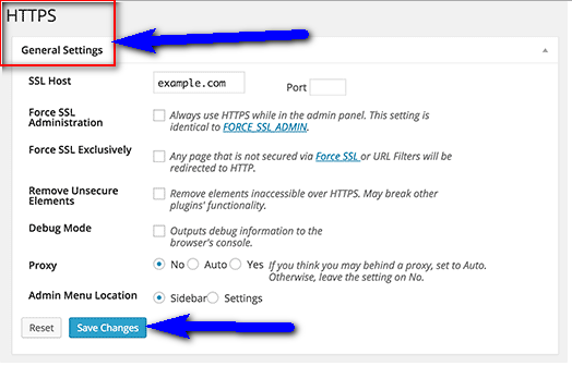 Change your HTTPS Settings